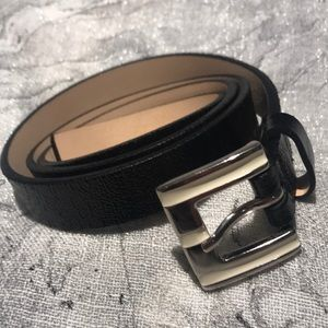 Garuglieri Black Skinny Belt Vintage